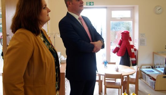 Stuart Andrew MP Visits 'Outstanding' First Steps at Froebelian Nursery