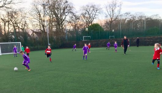 The Froebelian U9s Football Team Gives It Their All